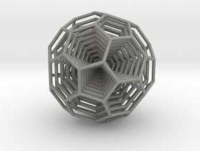 0377 8-Grid Truncated Icosahedron #All (5.0 cm) in Gray Professional Plastic