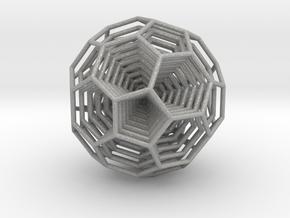0377 8-Grid Truncated Icosahedron #All (5.0 cm) in Aluminum