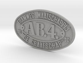 800 TMDG nummerplaat AB4 schaal 1:17 in Aluminum
