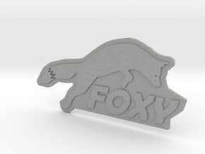 FOXY Badge 1.0 in Aluminum