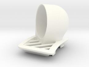 Defroster Vent Gauge Pod (45mm) for RHD E60/E61 in White Processed Versatile Plastic