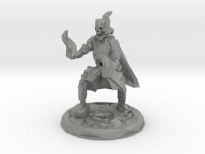 Skull Mage With Fire Hands Low Poly Version in Gray Professional Plastic