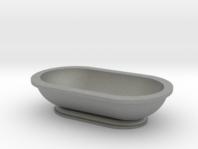 Scale Model Modern Bathroom Tub  in Gray PA12: 1:48 - O
