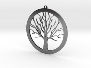 Tree Pendant in Antique Silver