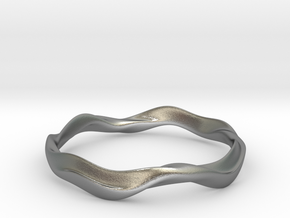Ima Wave Bangle - Bracelet in Natural Silver: Extra Small
