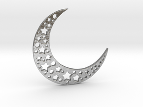 halfmoon-stars-small in Natural Silver