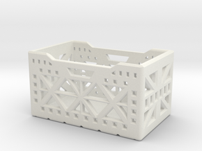 1Tenth Scale Storage Crate in White Natural Versatile Plastic