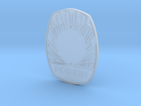 FORCE badge (Wallet) in Smooth Fine Detail Plastic