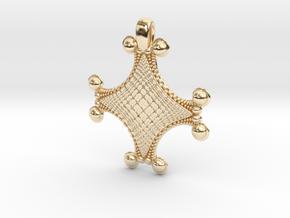 Fractal Pendant Order 4 in 14K Yellow Gold