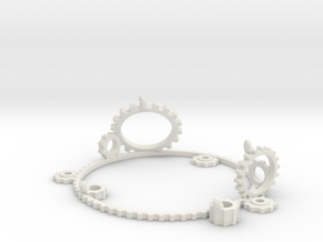 Arduino Uno Prototyping Stand Gears Mk1 in White Natural Versatile Plastic