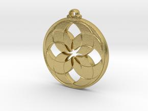 Lotus Pendant V in Natural Brass