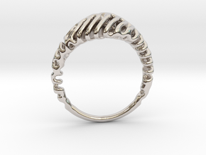 Reaction Diffusion Ring  5 in Platinum