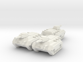 6mm APC Squadron in White Natural Versatile Plastic