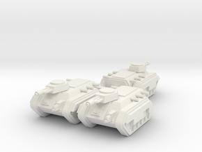6mm APC Squadron in White Natural Versatile Plastic