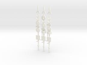 ROMAN STANDARD 2.3 (6 symbols, shorter) in White Processed Versatile Plastic