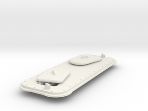 1/16 Panther D Top plate and Driver/Radioman hatch in White Natural Versatile Plastic
