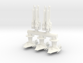 RC BRUNNER Clamps and Turrets in White Processed Versatile Plastic