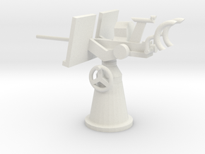 1/48 Scale 20mm Gun Mount Mk2 in White Natural Versatile Plastic
