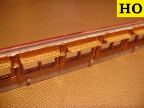HO Pullman Parlor Car Luggage Racks Set in Smoothest Fine Detail Plastic: Small