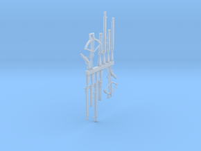 Fantasy shooting weapons 28mm in Smoothest Fine Detail Plastic