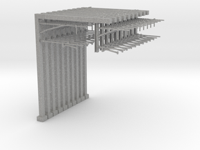 N Scale 10 Pc - Dble Track Cantilevered Staunchi in Aluminum