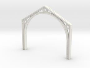 footbridge arch V3 scaled in White Natural Versatile Plastic