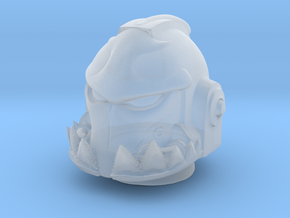 Marine_mkshark_Helmet in Smooth Fine Detail Plastic