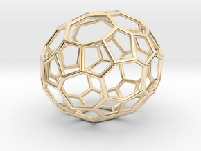 48hedron in 14k Gold Plated Brass
