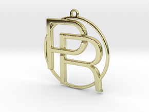 P&R Monogram in 18k Gold Plated Brass