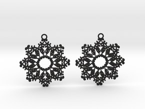 Ornamental earrings no.4 in Black Natural Versatile Plastic
