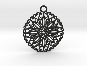 Ornamental pendant no.5 in Black Natural Versatile Plastic