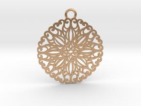 Ornamental pendant no.5 in Natural Bronze