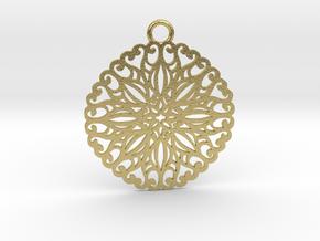 Ornamental pendant no.5 in Natural Brass
