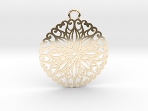 Ornamental pendant no.5 in 14K Yellow Gold