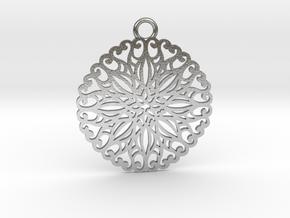 Ornamental pendant no.5 in Natural Silver