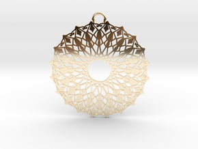 Ornamental pendant no.6 in 14k Gold Plated Brass
