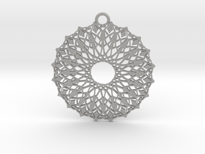 Ornamental pendant no.6 in Aluminum