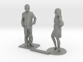 S Scale Standing Kids 9 in Gray Professional Plastic