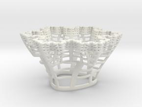 Koch Snowflake Fractal in White Natural Versatile Plastic