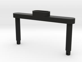 Traxxas Sledgehammer Front Body Mount (No Springs! in Black Natural Versatile Plastic