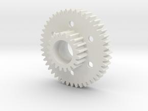 Traxxas Sledgehammer Cluster Spur Gear #1884 in White Natural Versatile Plastic