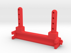 Kyosho Big Brute Rear Body Mount (Strengthened) in Red Processed Versatile Plastic