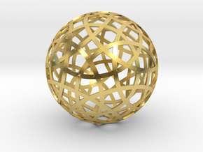 Stripsphere20 in Polished Brass