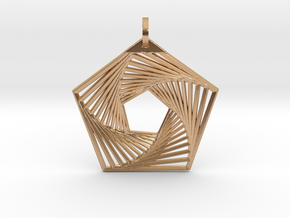 Pentagonal PeNngon Pendant in Polished Bronze