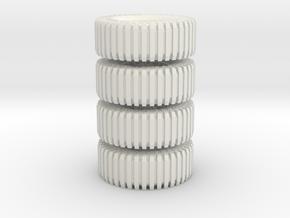 All Terrain Wheels x4 #2 in White Natural Versatile Plastic