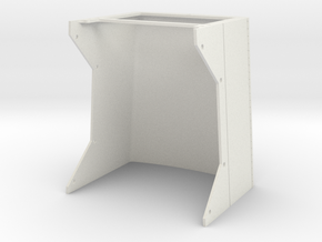 Peterbilt 353 Hood for Tamiya Cab and Grill in White Natural Versatile Plastic