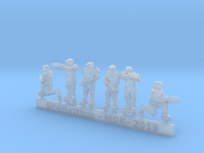 Scifi Marine Sprue C  in Smooth Fine Detail Plastic: 6mm