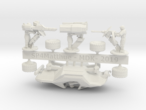 Scifi Marine Attack Buggy Sprue in White Natural Versatile Plastic: 6mm