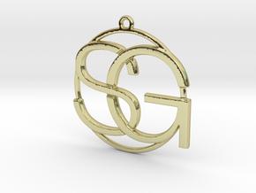 S&G Monogram in 18k Gold Plated Brass