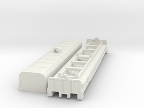 54´ Coil Car in Nscale in White Natural Versatile Plastic